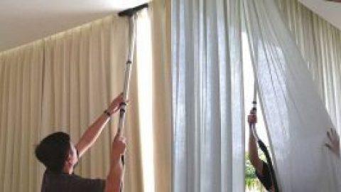 Как осуществляется химчистка штор на дому и с выездом профессионалами