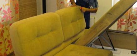 Химчистка четырехместного дивана
